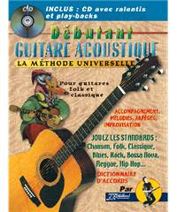 METHODE DEBUTANT GUITARE ACOUSTIQUE + CD