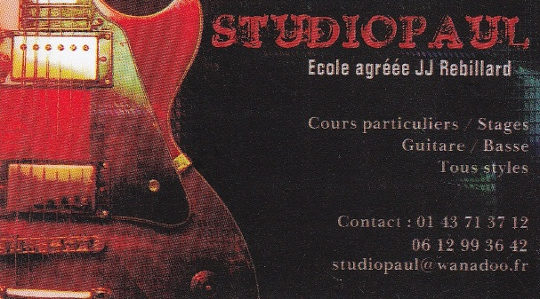 STUDIO PAUL - Ecole de musique à Paris