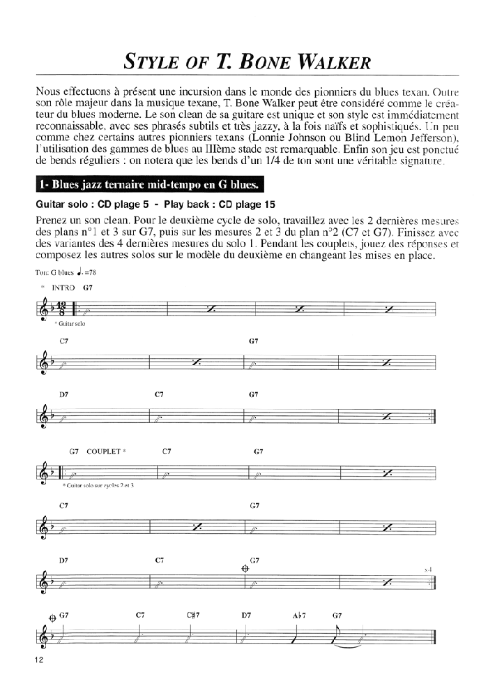 BLUES STANDARDS VOL.1 Extrait 1 (page12)