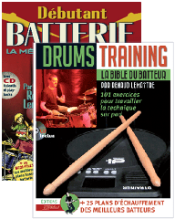 LE PACK DRUMMER: Drums Training et D�butant Batterie