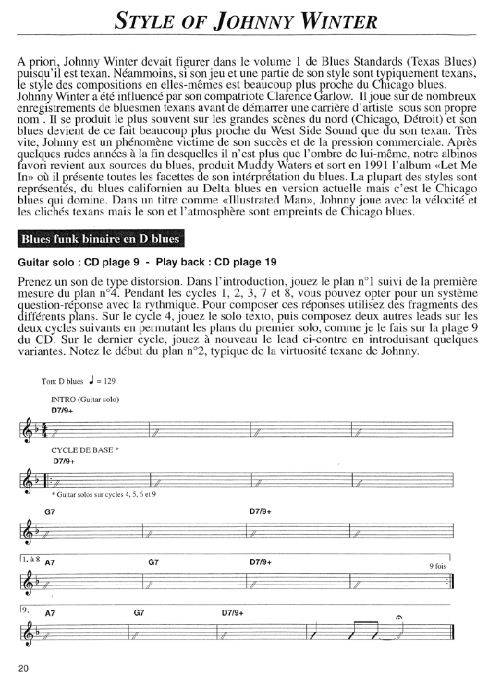BLUES STANDARDS VOL.2 Extrait 1 (page12)