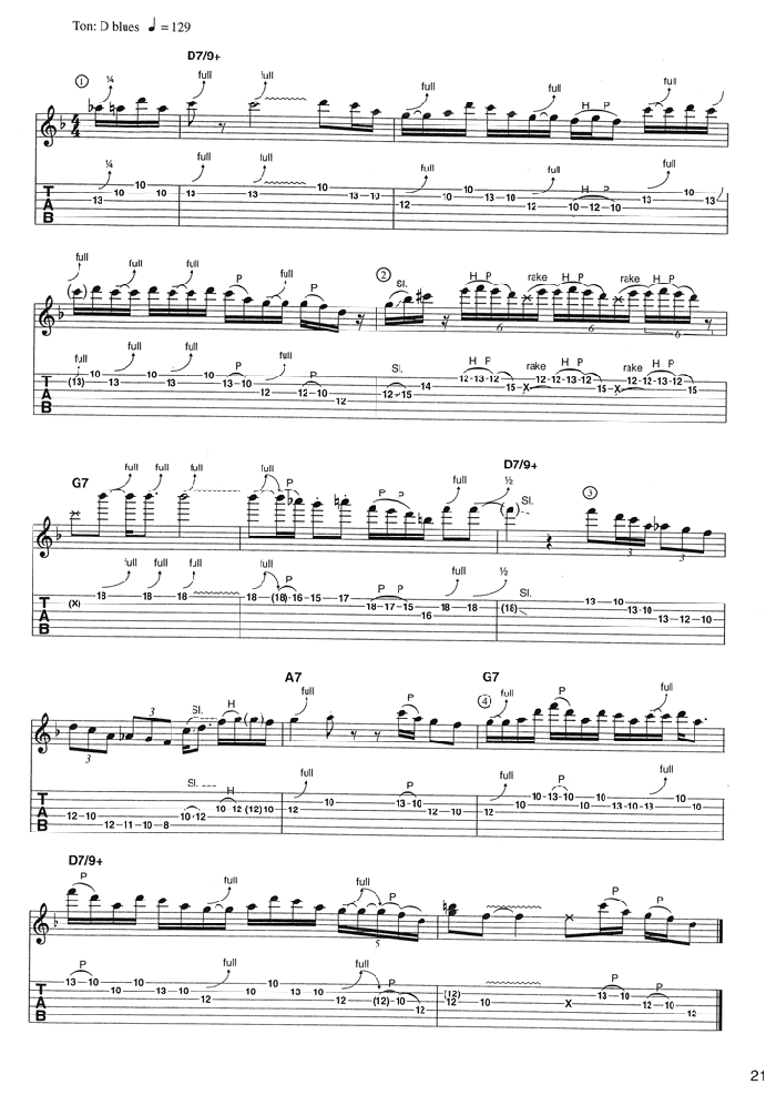 BLUES STANDARDS VOL.2 Extrait 2 (page21)