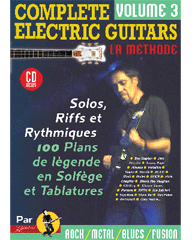 COMPLETE ELECTRIC GUITARS VOL 3 + CD
