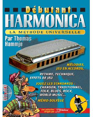 MÉTHODE DÉBUTANT HARMONICA + CD + MP3
