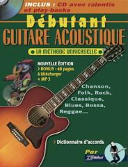 METHODE DEBUTANT GUITARE ACOUSTIQUE + CD + MP3