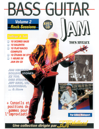 BASS GUITAR JAM VOL 2</BR>Rock sessions